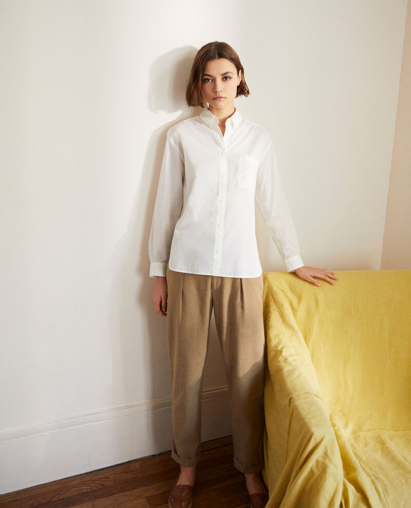 Chemise en coton Blanc Ibouya