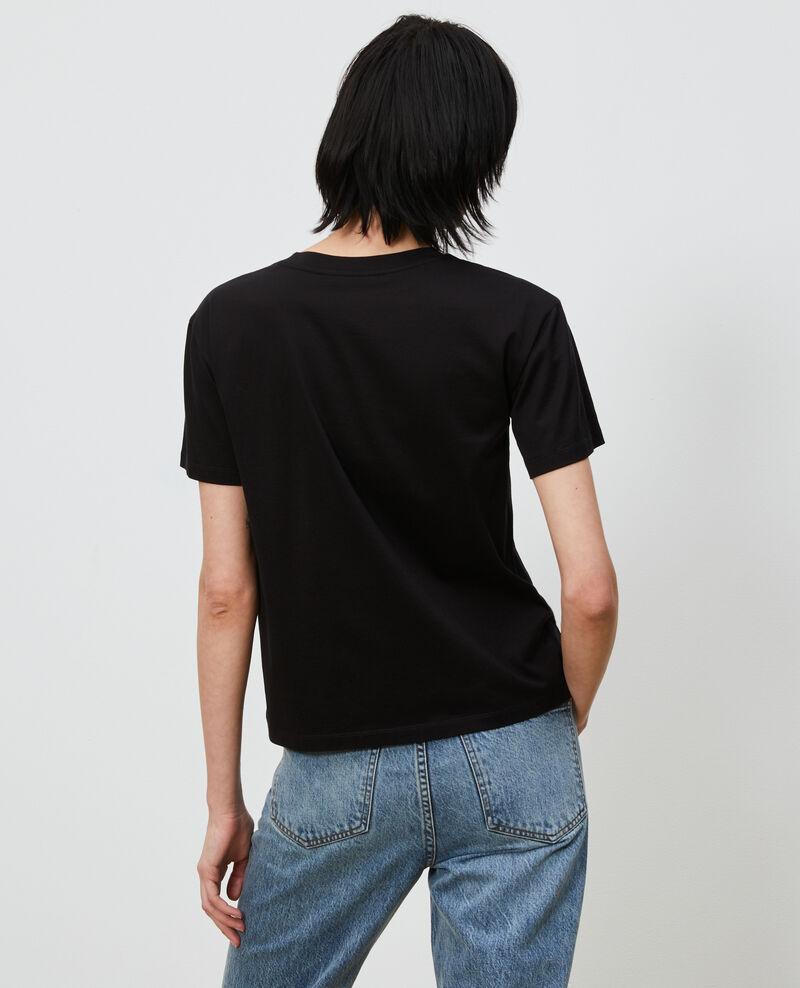 T-shirt coton col rond Black beauty Lirous