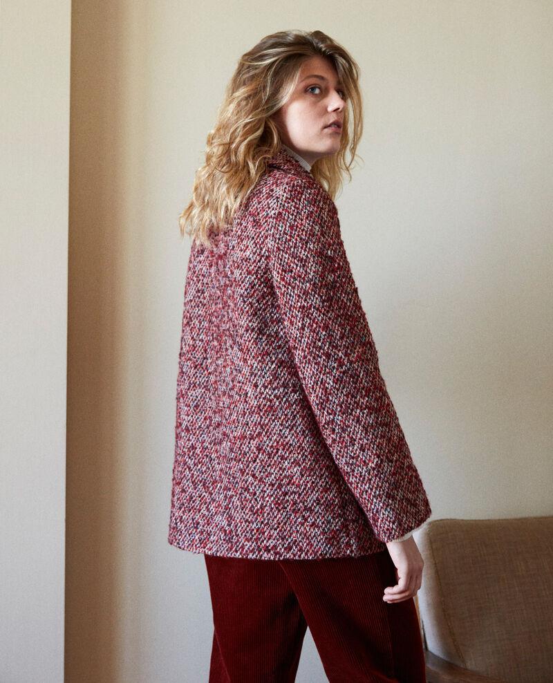 Manteau en tweed Red melange Jiarritz