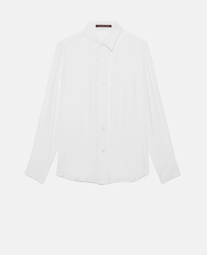 Chemise en soie Optical white Loriges