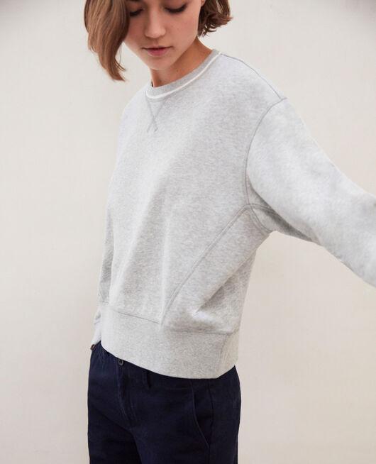 Sweatshirt lifewear HEATHER GR/OW