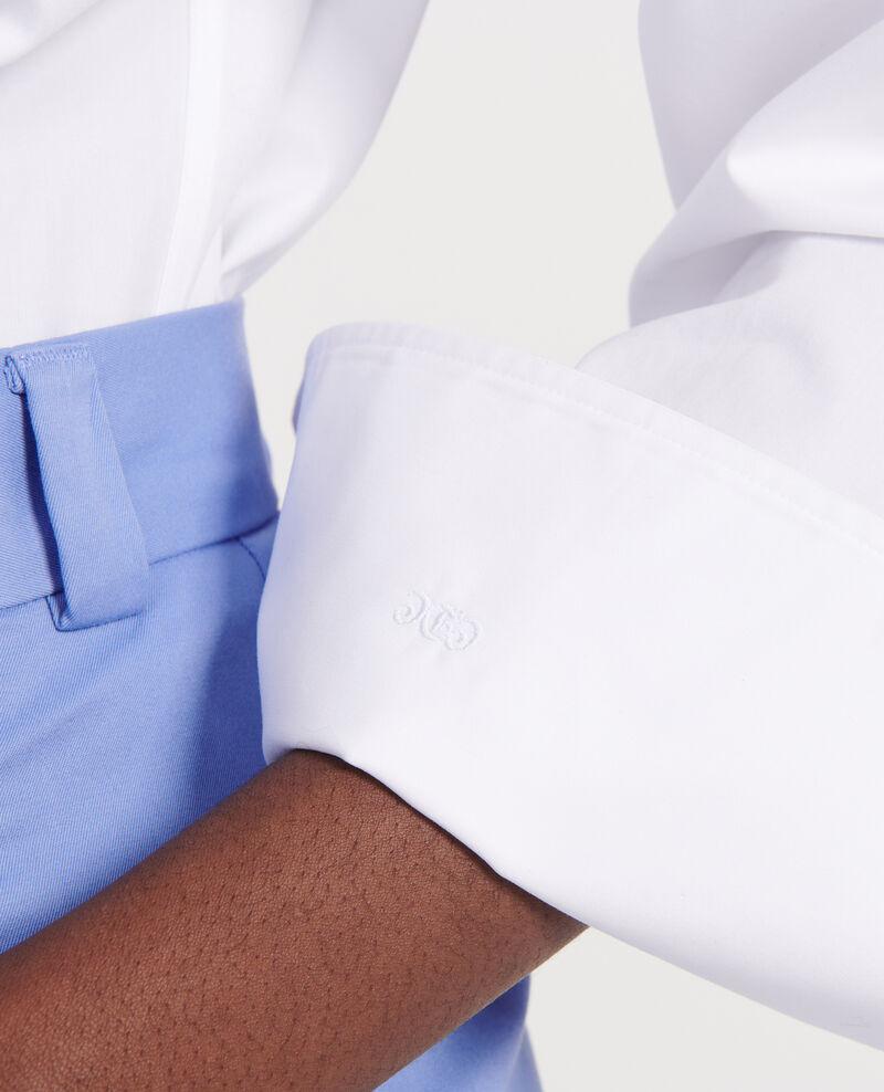 Chemise oversize en popeline de coton Optical white Lauryl