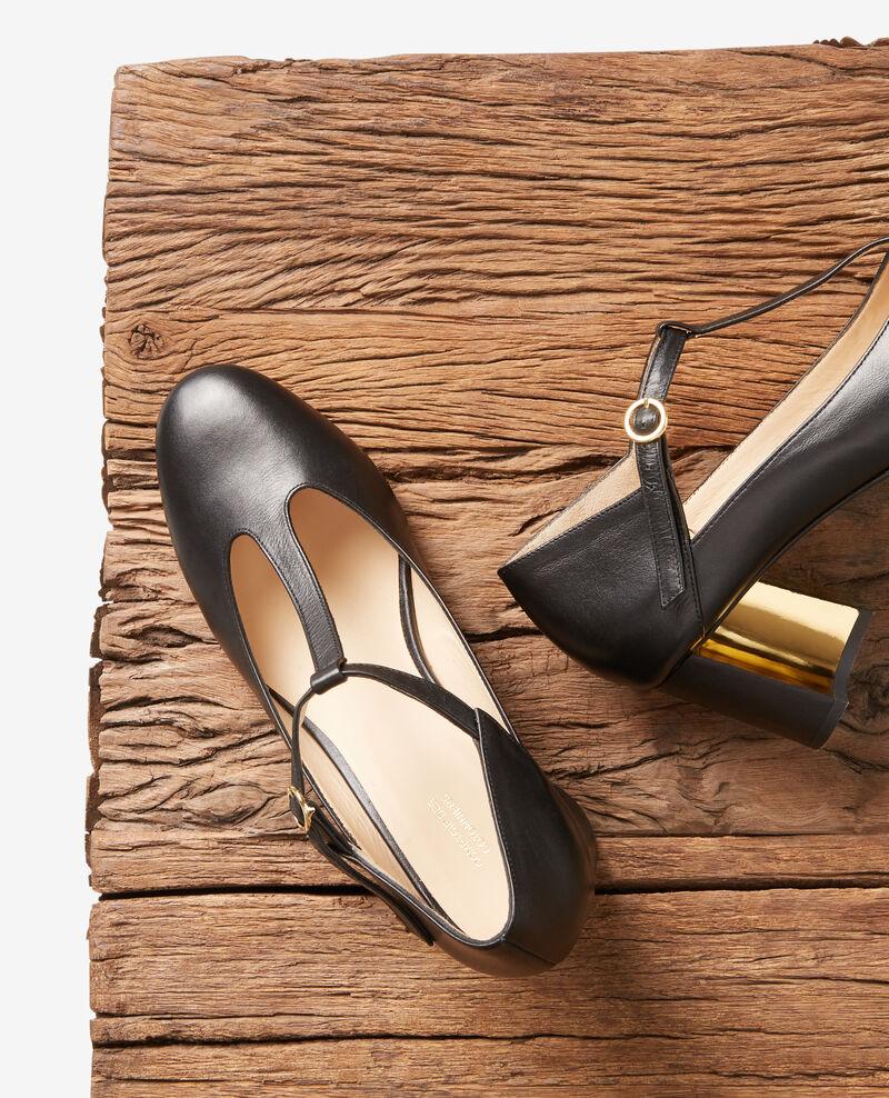 Chaussure Salomé en cuir Noir Fillette