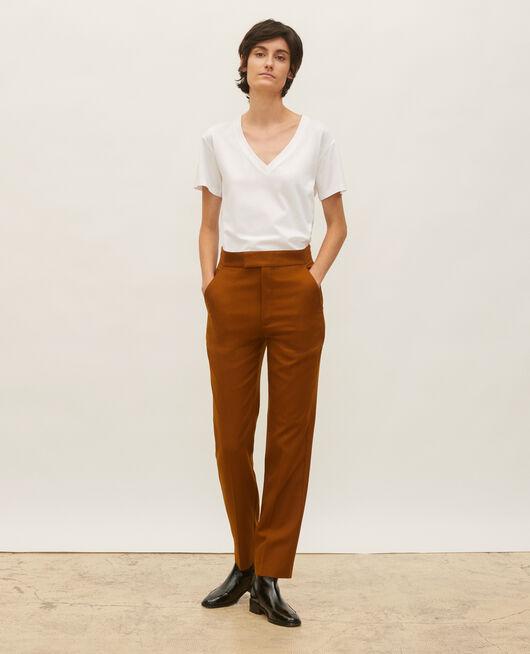 Pantalon droit en laine masculin  MONKS ROBE