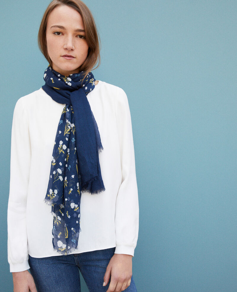 Foulard imprimé Sweet meadow peacoat Go