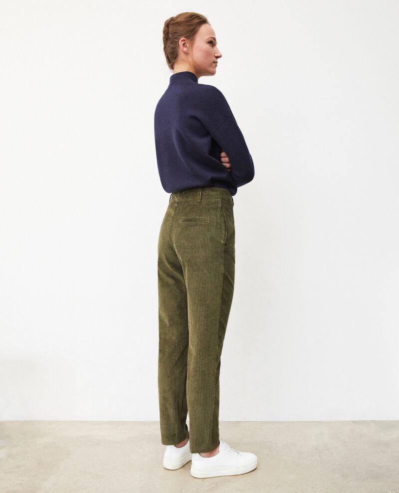 Pantalon en gros velours côtelé Olive night Ganasso