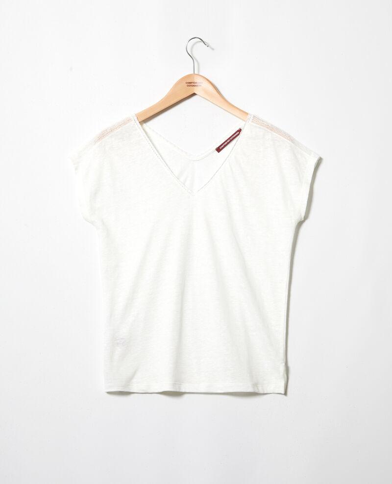 T-shirt avec de la dentelle Off white Itlanta