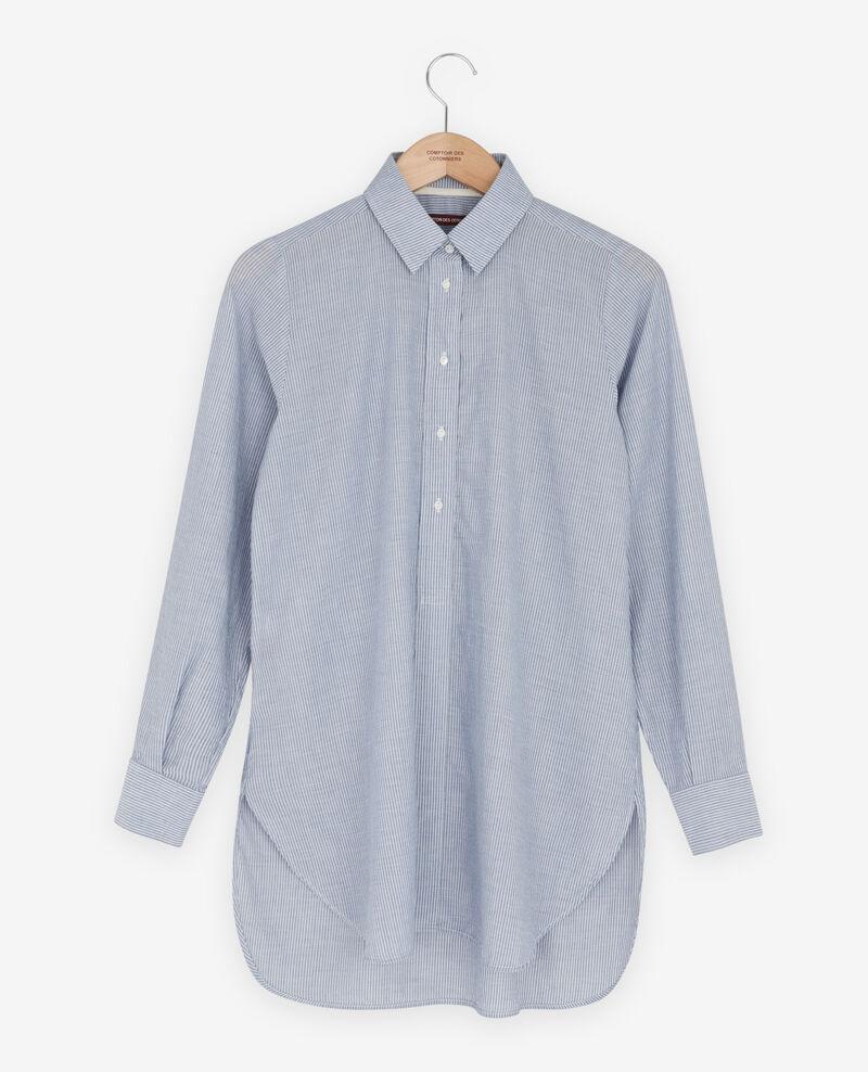 Chemise oversize rayée Stone blue stripes Freelance