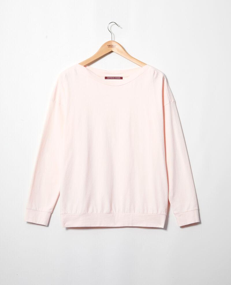 Sweatshirt col bateau Light pink Inkaja