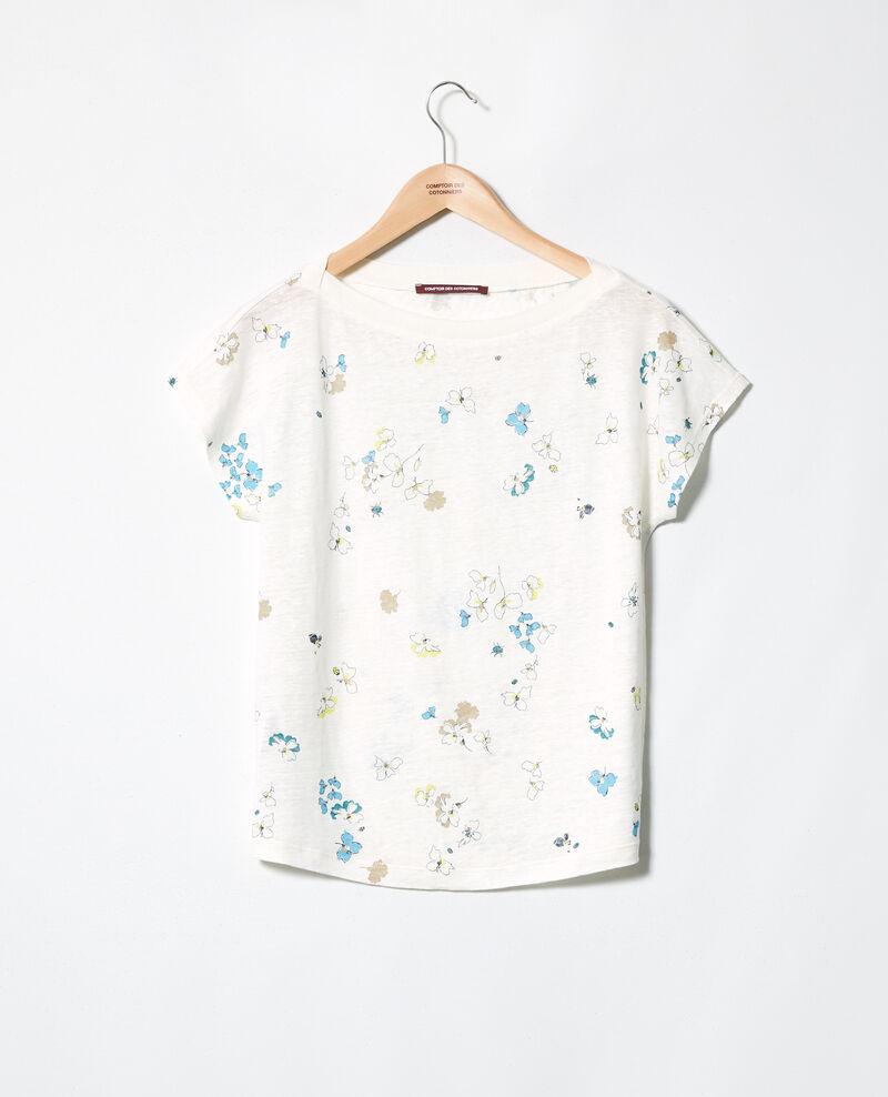 T-shirt col bateau Dry off white Idilika