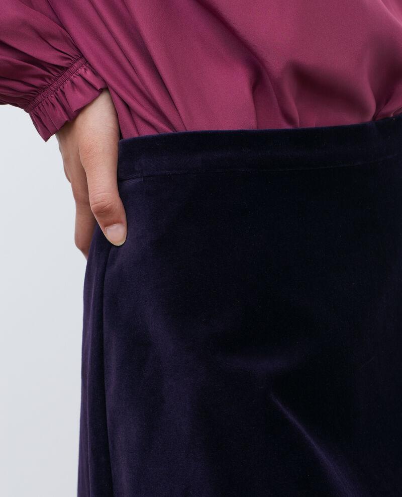 Jupe courte évasée en velours Purple Pair