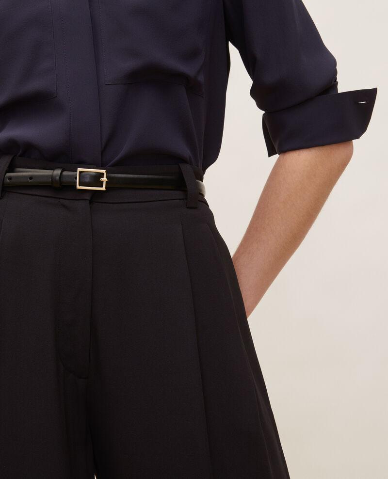 Pantalon large taille haute Black beauty Mogance