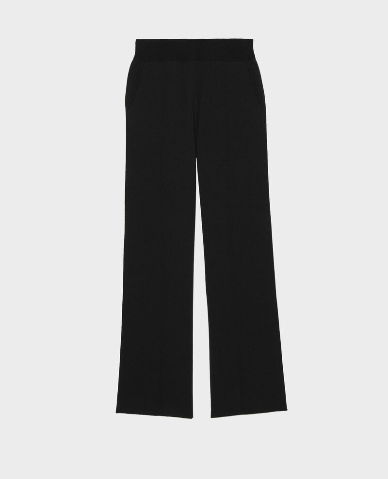 Pantalon large en jersey de laine Black beauty Marseillan 2