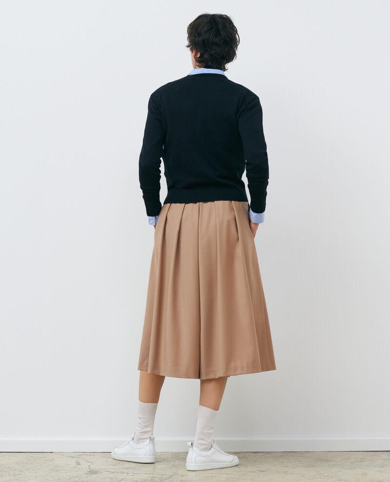 Cardigan court en laine mérinos Black beauty Palabre