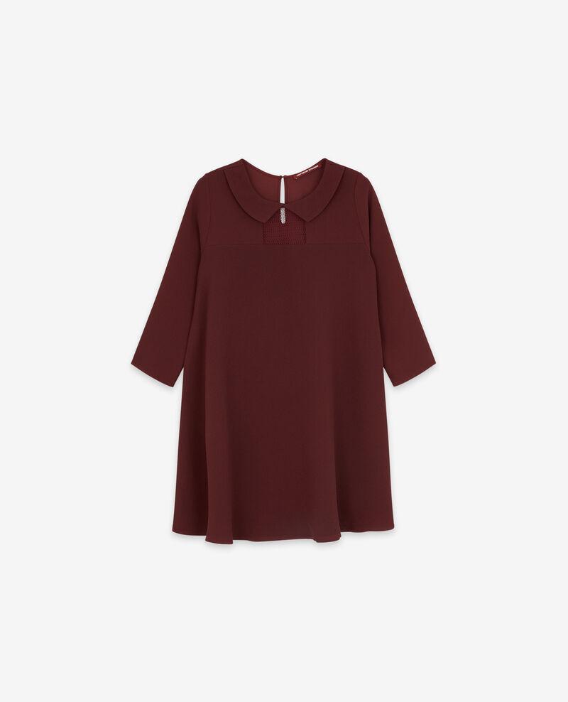 Robe avec un col claudine Burgundy Donatella