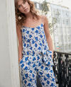 Combinaison en soie Summer bloom ultra marine Frac