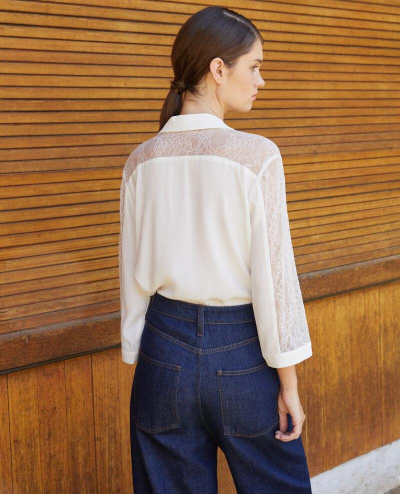 Chemise avec dentelle Off white Fondre