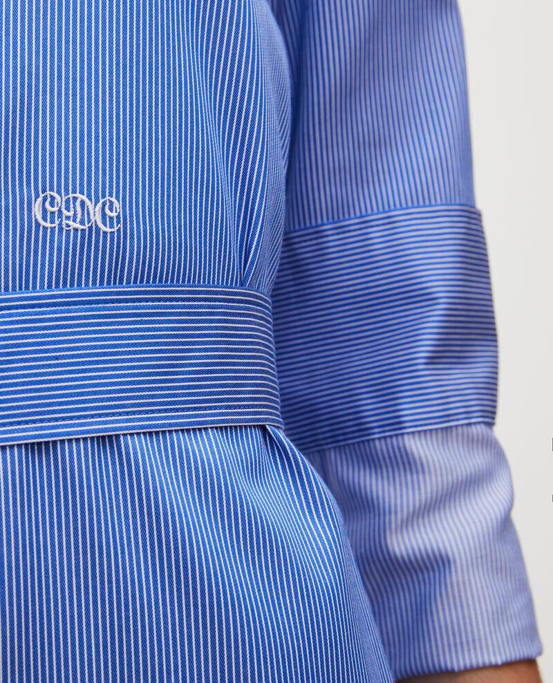 Robe chemise ceinturée en coton Blue as proto Mezeres