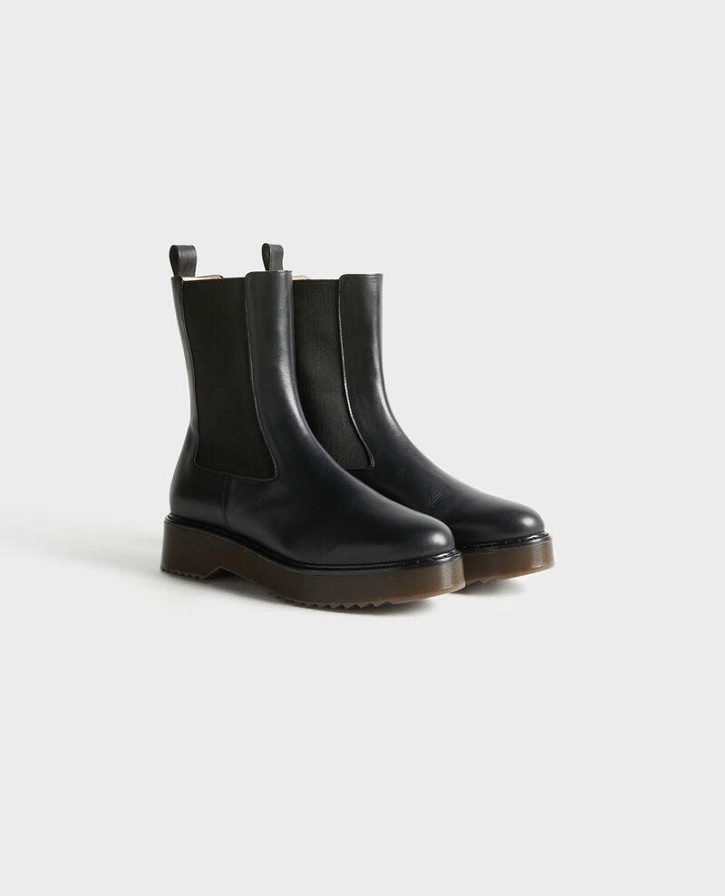 Boots en cuir Black beauty Petite