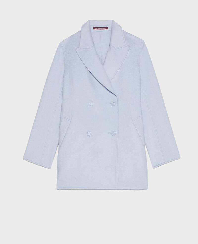 Manteau caban en lainage double face Heather Lintot