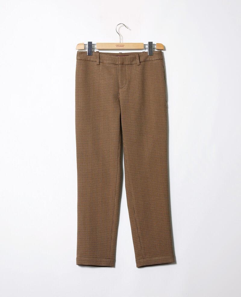 Pantalon coupe droite Houndtooth Jillica