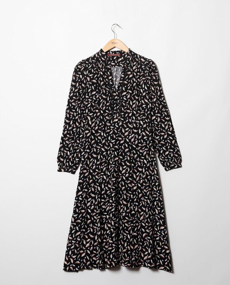 Robe imprimée Noir Gaetane