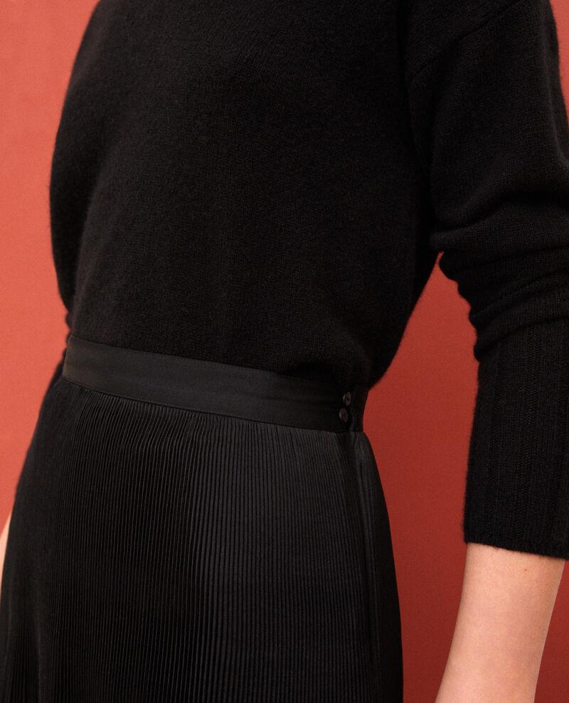 Jupe plissée avec détail de dentelle Noir Gilipine