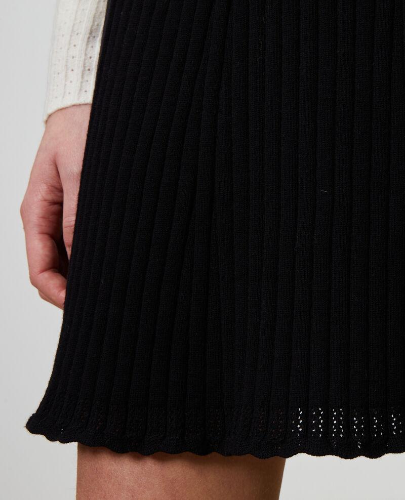 Jupe courte en maille 3D Black beauty Noziere