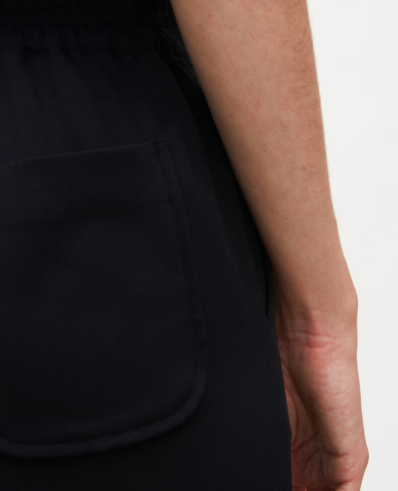 Pantalon fluide élastiqué Black beauty Luant
