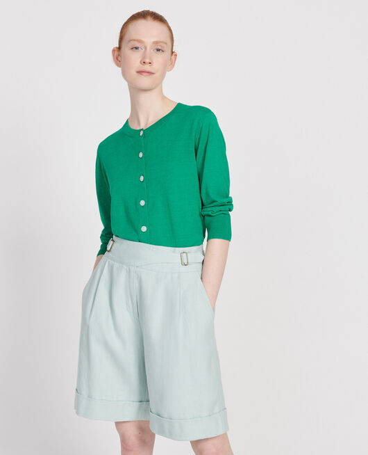 Cardigan en lin GOLF GREEN