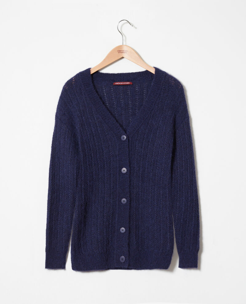 Cardigan maille fantaisie Evening blue Jaro