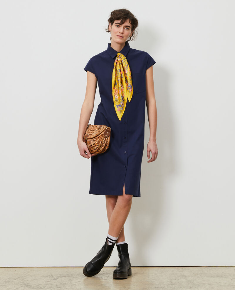 Robe chemise en coton Maritime blue Lelumba