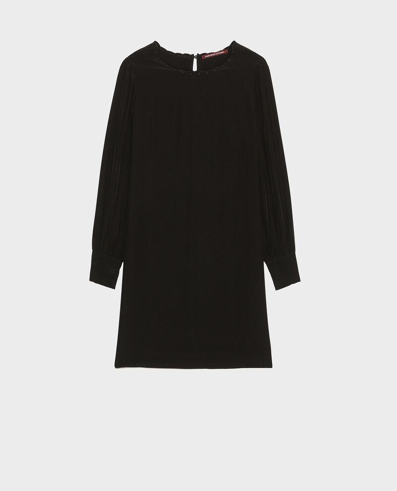 Robe en crêpe de chine Black beauty Lamax