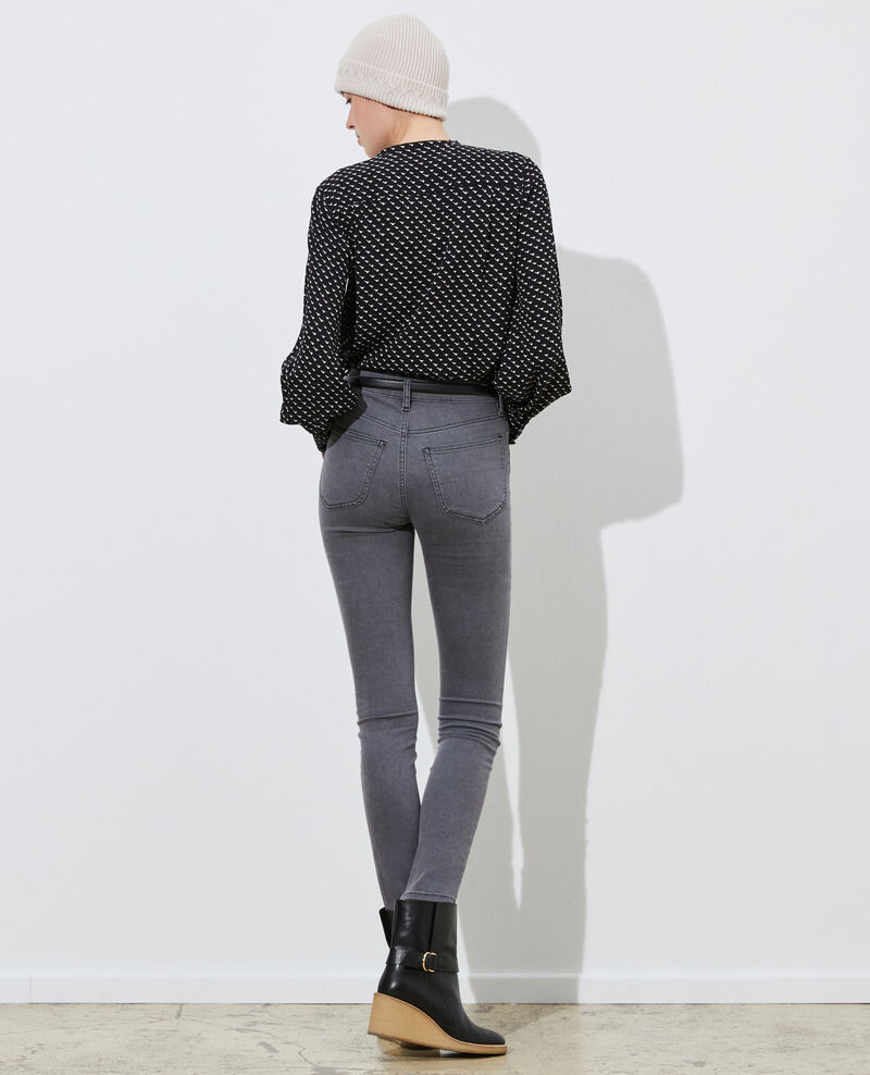 DANI - SKINNY - Jean 5 poches Dark grey Paugrey