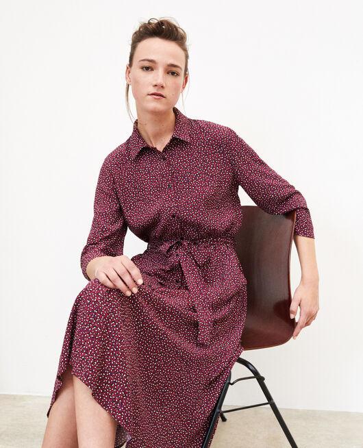 Robe chemise BURGUNDY
