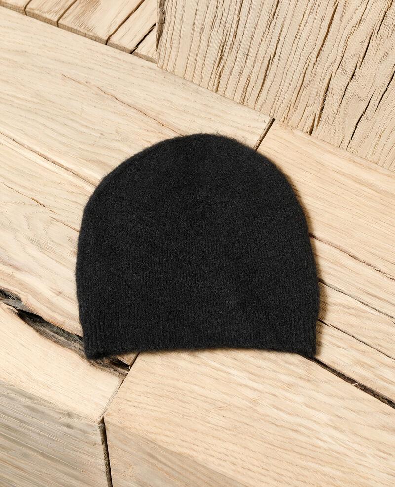 Bonnet moelleux Noir Glaner