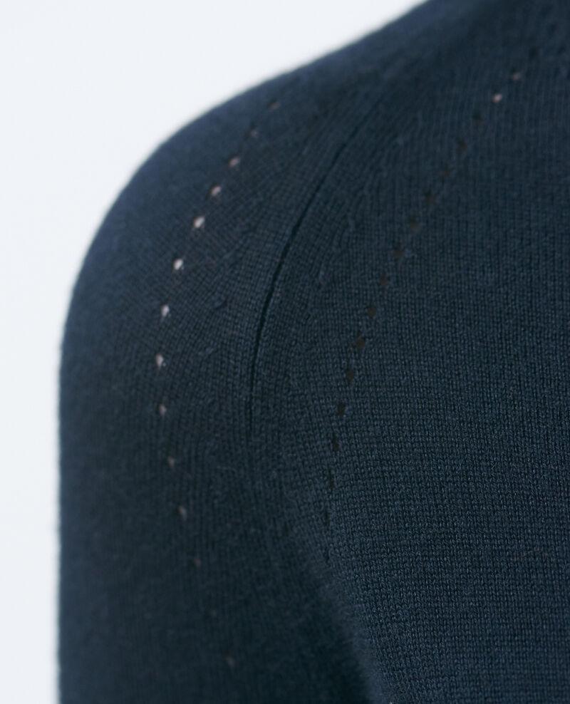 Cardigan court en coton et soie Black beauty Nouma