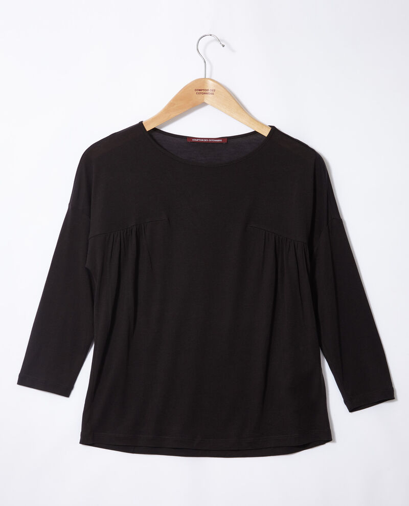 T-shirt col rond Noir Graziela