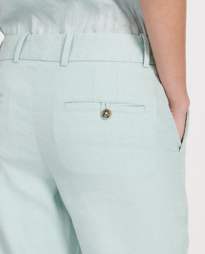 Pantalon droit en lin Blue haze Laiguillon