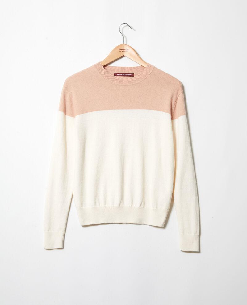 Pull bi-color Pink beige Ilene