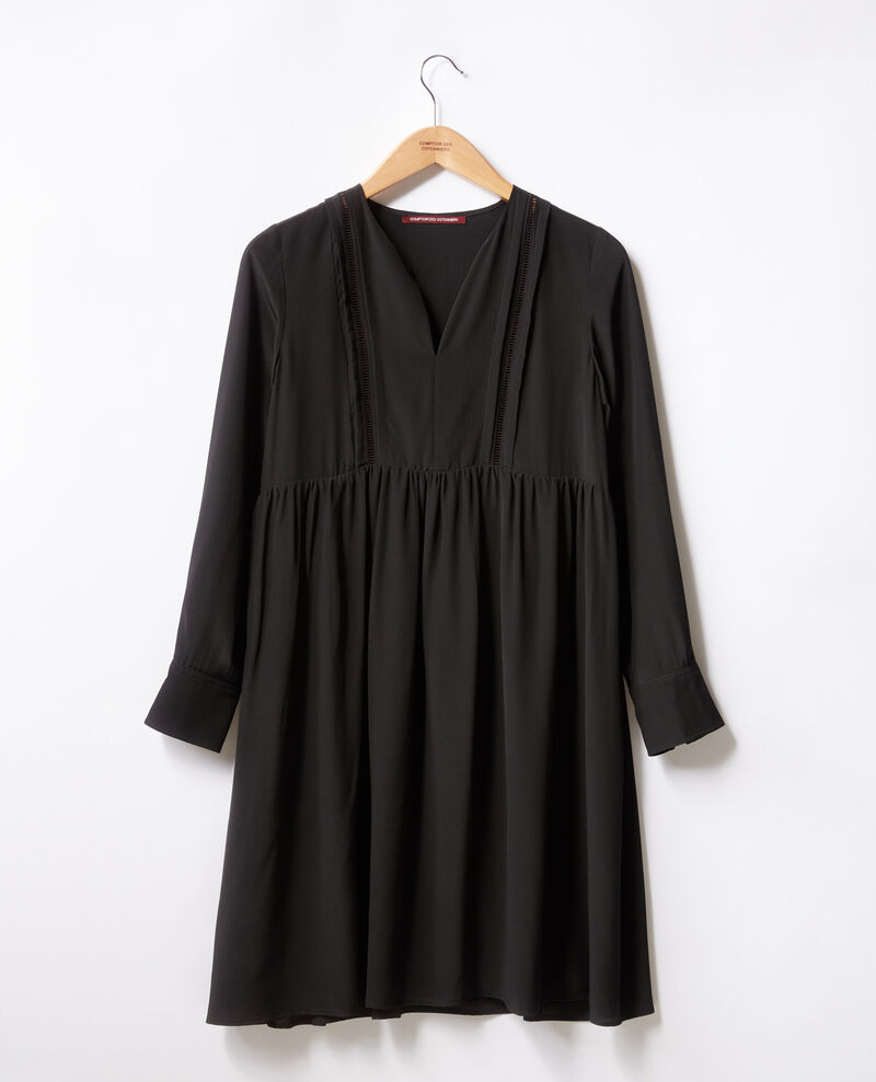 Robe en soie Noir Fomme