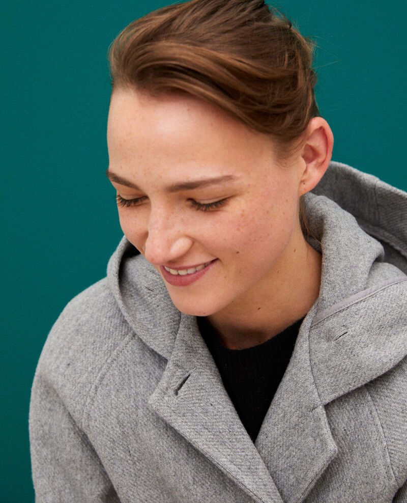 Manteau à capuche Light heather grey Gustin