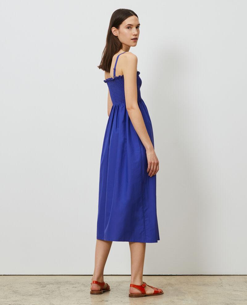 Robe longue en coton et soie Royal blue Nassandrou