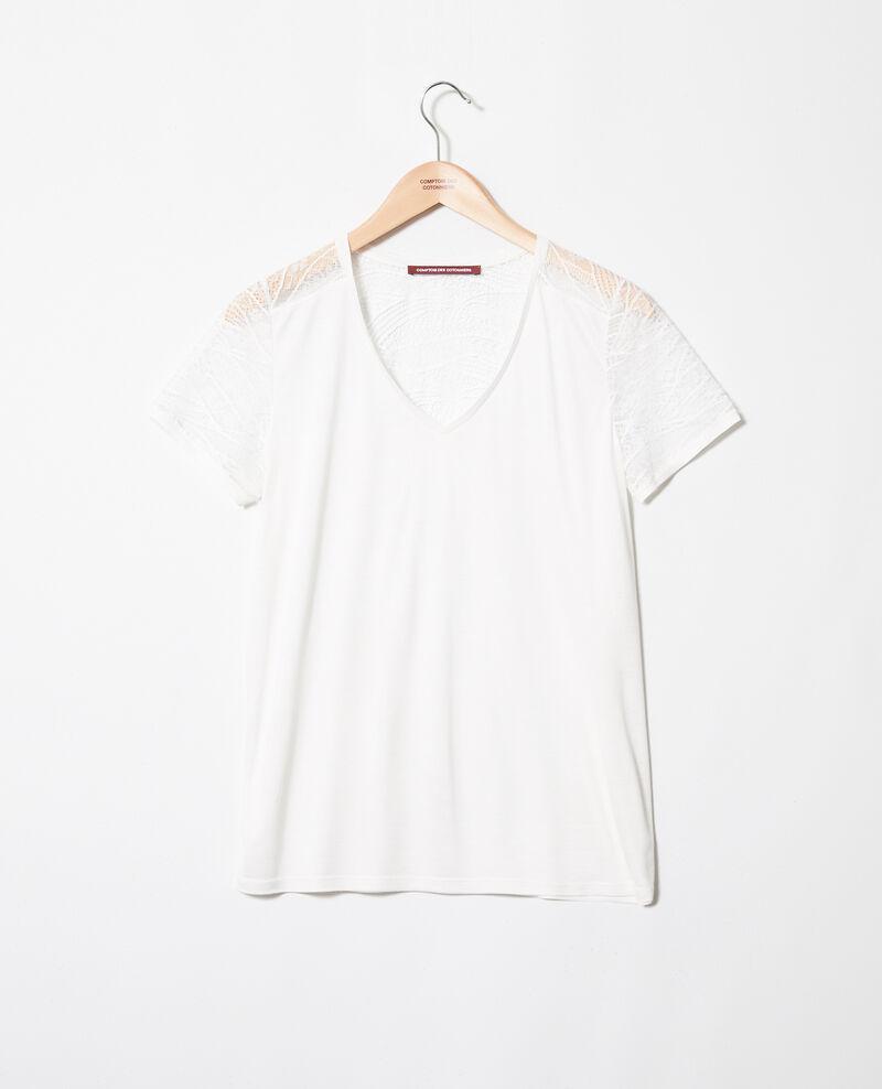 T-shirt avec de la dentelle Off white Ipommo