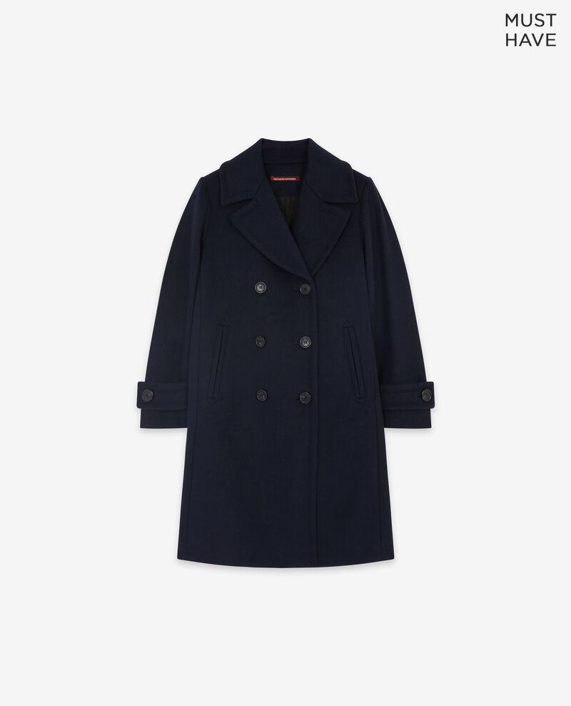 Manteau caban avec laine Navy Didanglas