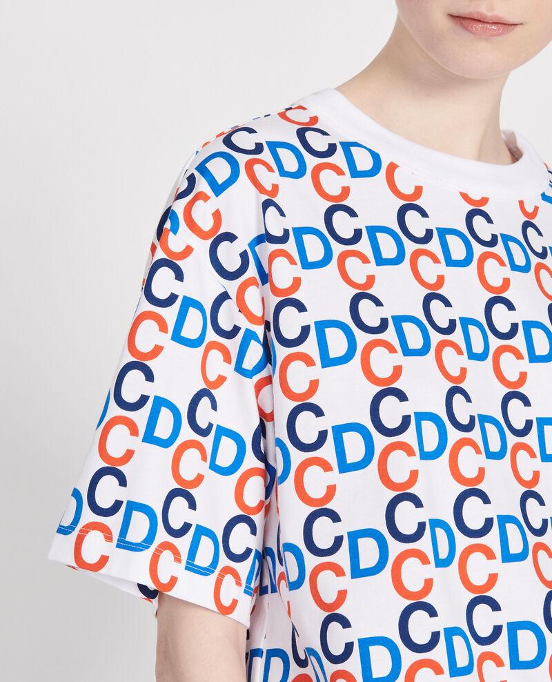 T-shirt imprimé CDC en coton Optical white Lenoy