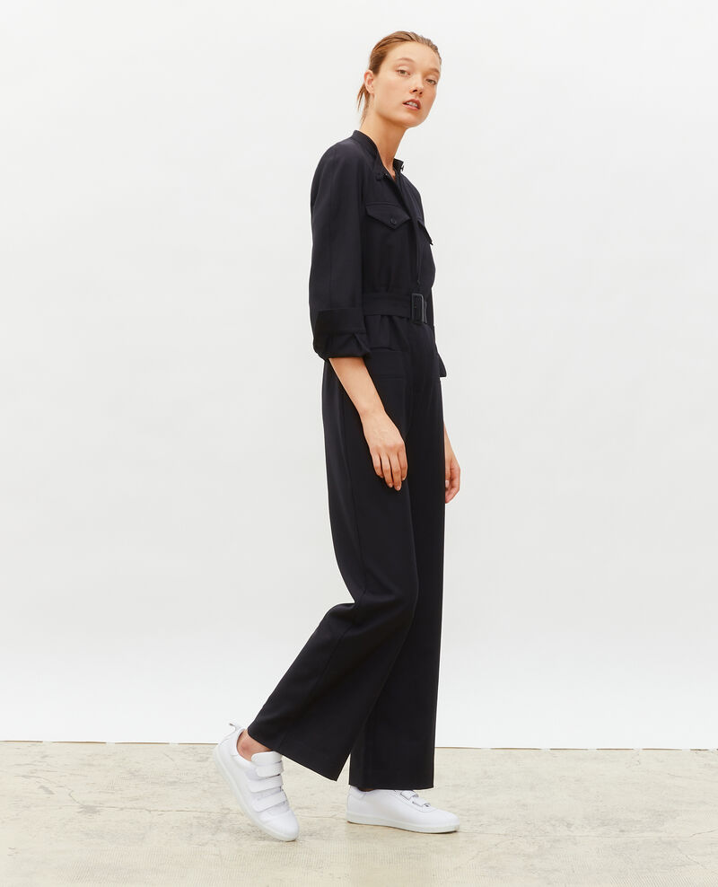 Combinaison en laine manches longues Black beauty Marbiche