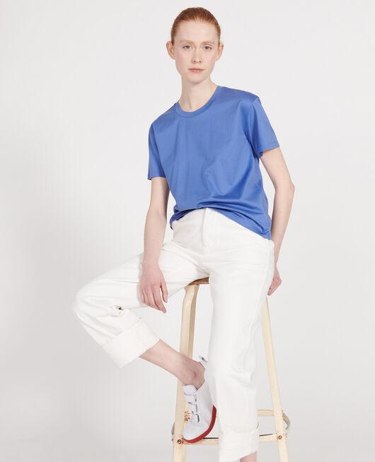 T-shirt coton manches courtes col rond AMPARO BLUE