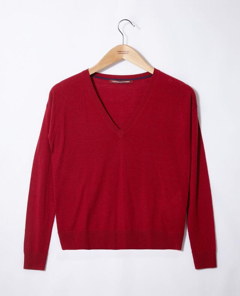 Pull en laine mérinos Rio red Garago