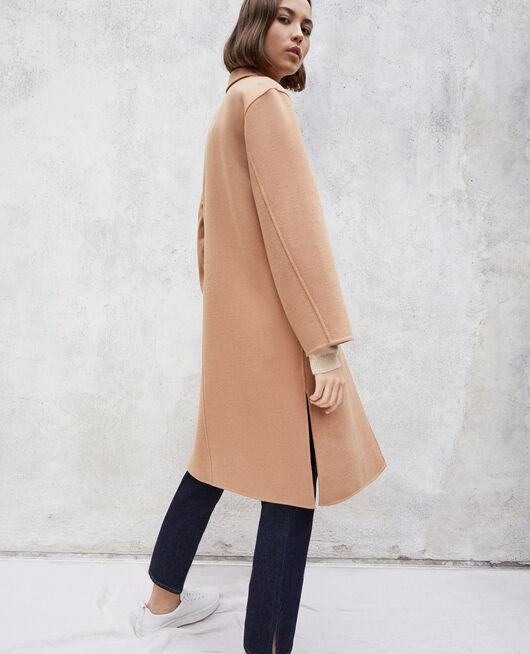 Manteau double face CARAMEL BEIGE
